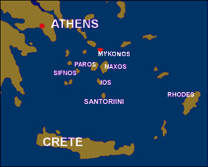 Mykonos Map - Greek Islands